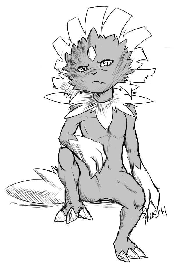sylverarts:  Tablets being fixed at the moment so i drew this on my iPad and.. I'm officially going to change my sona into a Weavile > v< Sylv's the dewott is a separate character now~  weavile is pretty much ooc related. so it pertains to me mostly