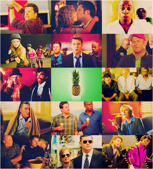 "killerpearls:  TV Meme | [1/5] TV SHOWS : Psych  ""You named your fake detective agency ""Psych""?"