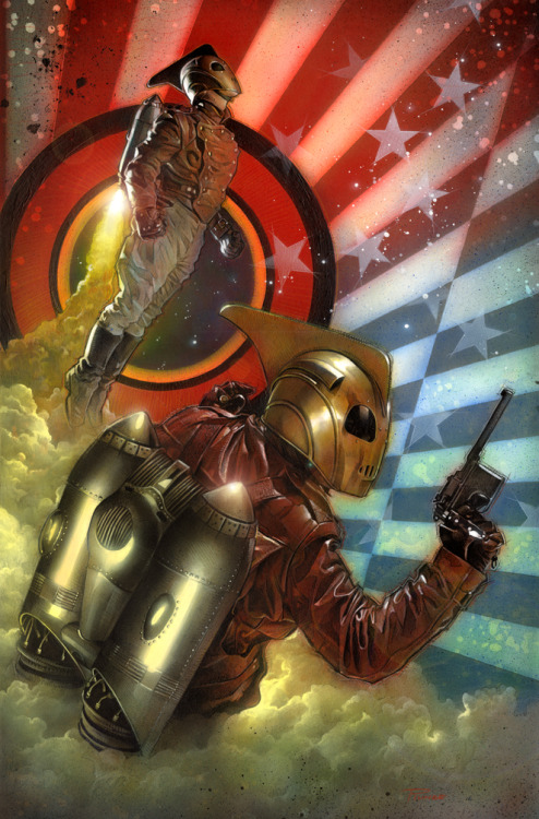 brianmichaelbendis:  The Rocketeer by Nick Runge