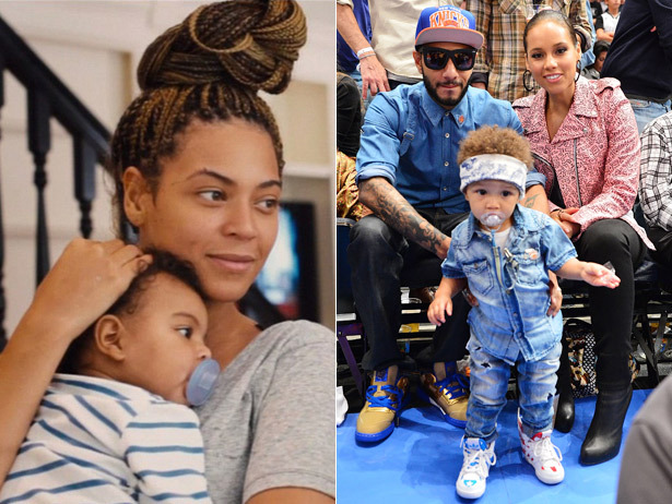Blue Ivy Carter already has an admirer …. Alicia Keys 2-year-old son Egypt!