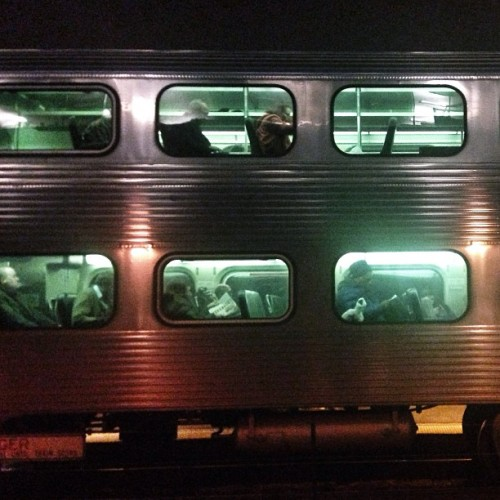 Leaving on a midnight train to Chicago. #instagram312 #tribdecember