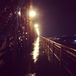 Rainy day on the Broadway Bridge. Portland, OR.