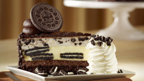 Oreo Extreme Cheesecake from The Cheesecake Factory!  if this could magically appear in front of me right now, I'd die.