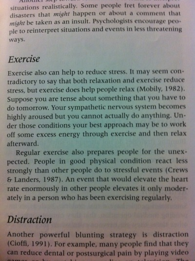 straight from my AP Psych book, exercise has so many benefits beyond simple weight loss!