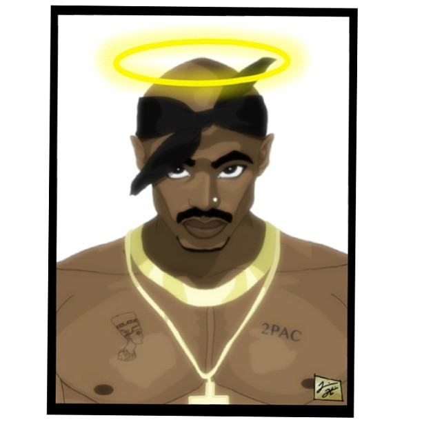 R.I.P series I'm working on. #tupac #artwork