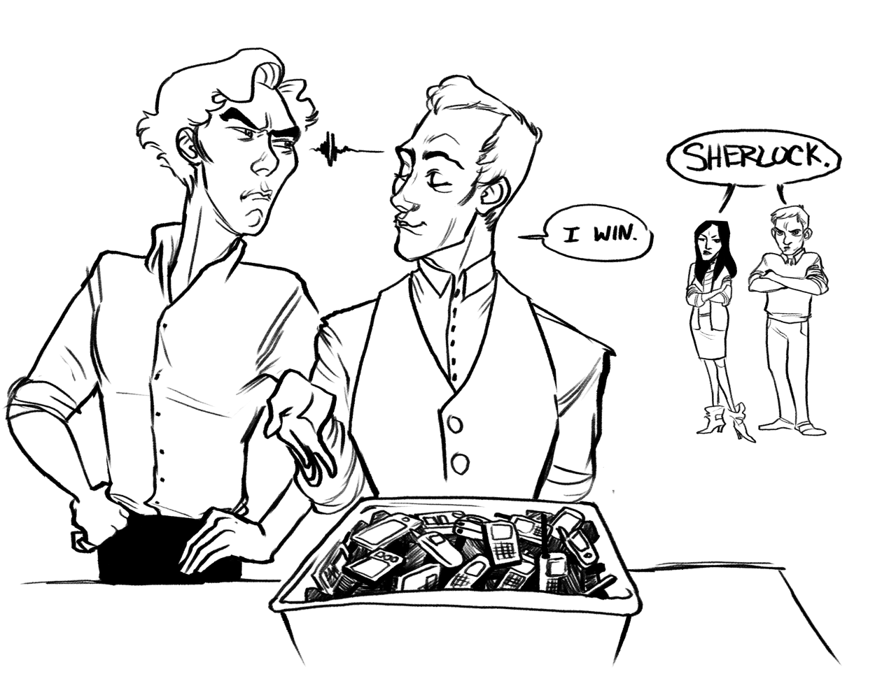 Hey, remember that one time Elementary Sherlock pulled out a giant box of phones and gave one to Joan to call a killer, instead of making her use her own? Yeah, me too.