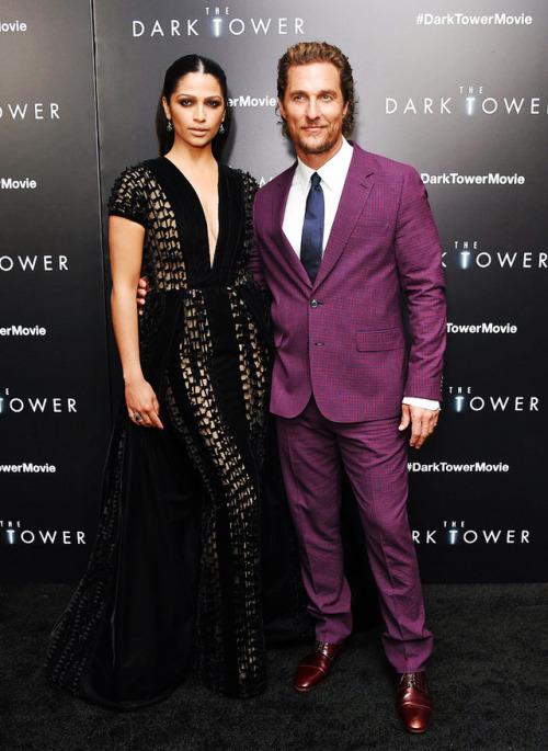 matthew mcconaughey camila alves the dark tower red carpet celebrity style mccedits