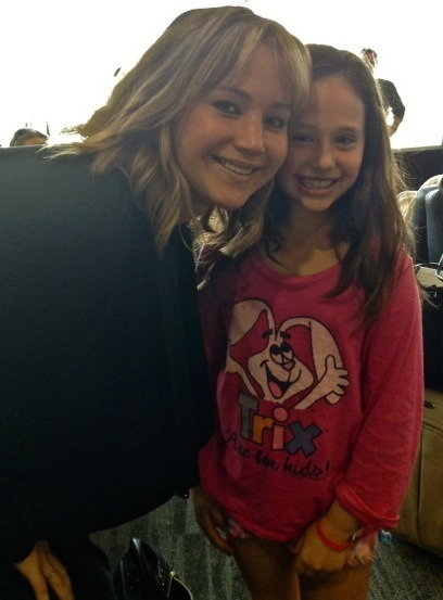 Jennifer and a fan