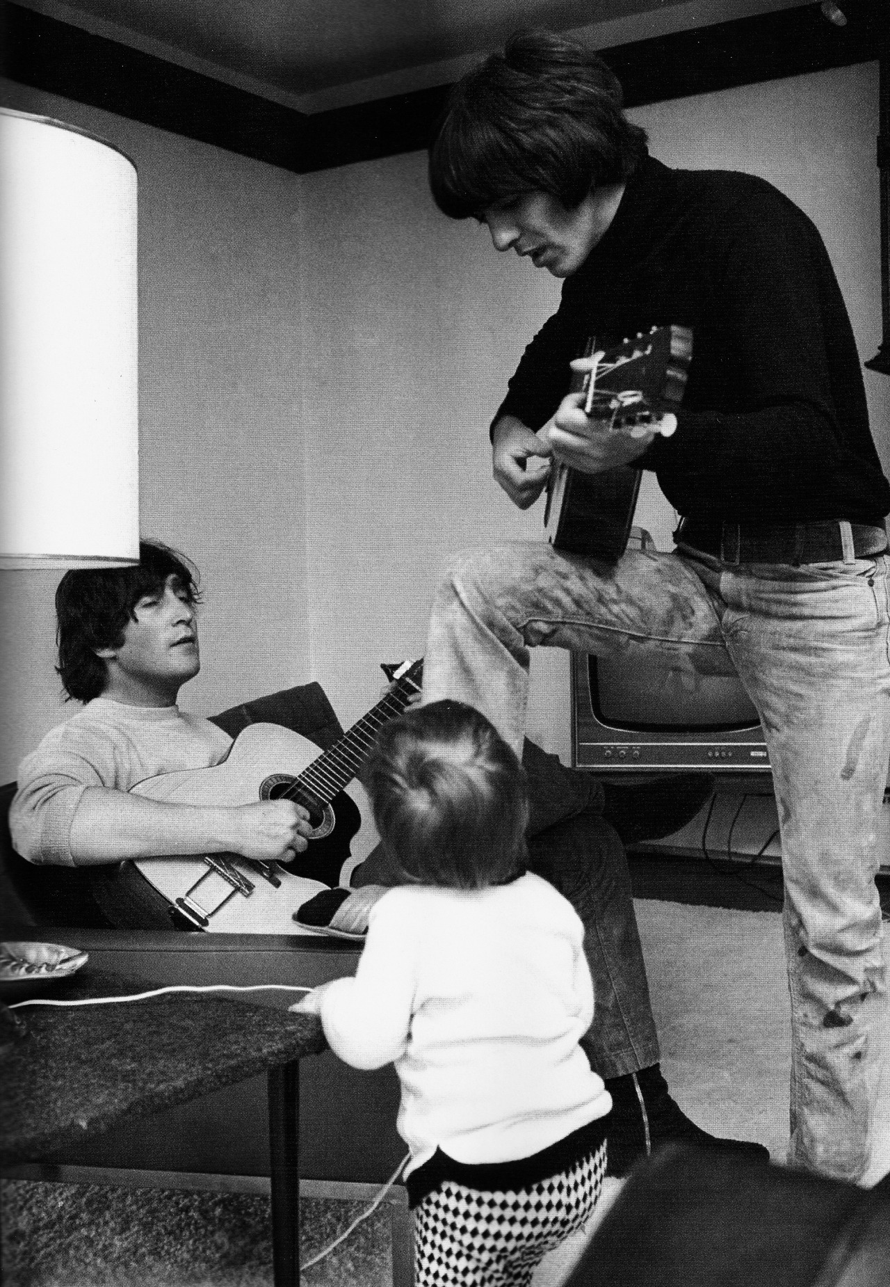 John, George and Julian at Kenwood, 1965.