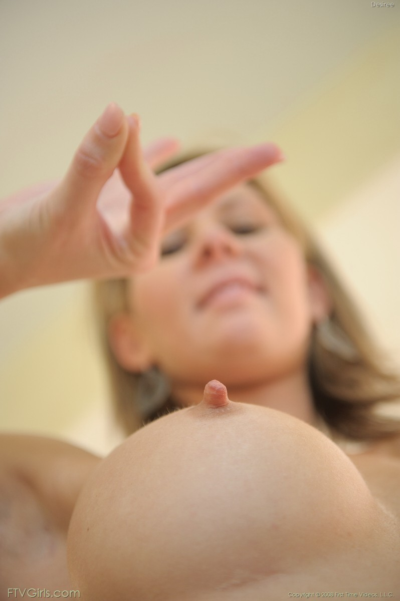 She's got a point! Lol! Awesome erect nipple.