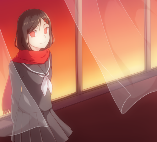 Junky thing. I wanted to draw Ayano because of Ayano no Koufuku Riron but it ended up being Lost Time Memory oops.