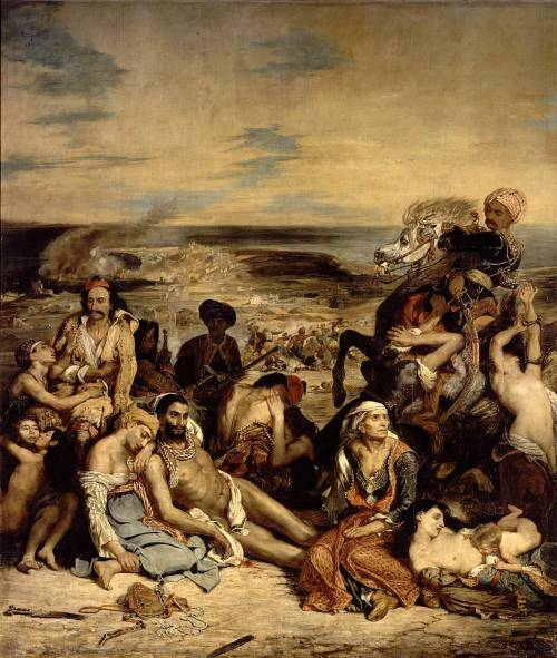 berfrois:  Eugène Delacroix, The Massacre at Chios, 1824
