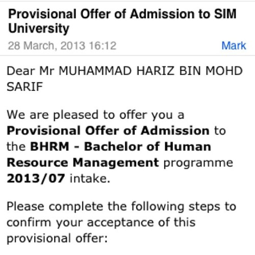 Secured a place in SIM University like finally. I can't believe i'm going back to school this July. See ya around in school soon @ahshiqs 😃