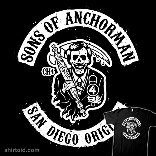 Sons of Anchorman by Brandon Wilhelm is available at Redbubble