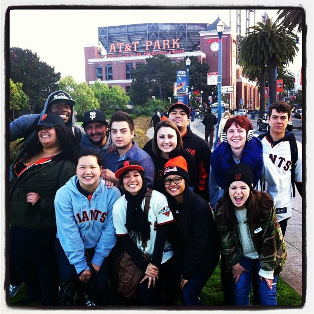 My coworjers, gf, and i are at the giants game! So happy right now 😄 Lets go Giants!