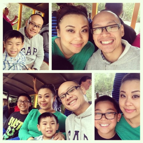 #Huerto's Easter 2013 @ Roaring Camp Railroad. #getaway #familyfun #familytrip #outdoors #bonding #loving @mrshuerto  (at Roaring camp redwood forest)