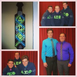 So proud of my newest little brother, John Chadwick on getting initiated into Delta Sigma Phi - Epsilon Tau chapter this morning! Couldn't be more excited to see what you do for not only our brotherhood, but the entire GVSU Greek community! #YITBOS #SASS #DeltaSig #DeltSig #deltasignation #GVSU #gvsugreeks #greeklife #paddle #letters @johnachad  (at Russel H. Kirkhof Center)