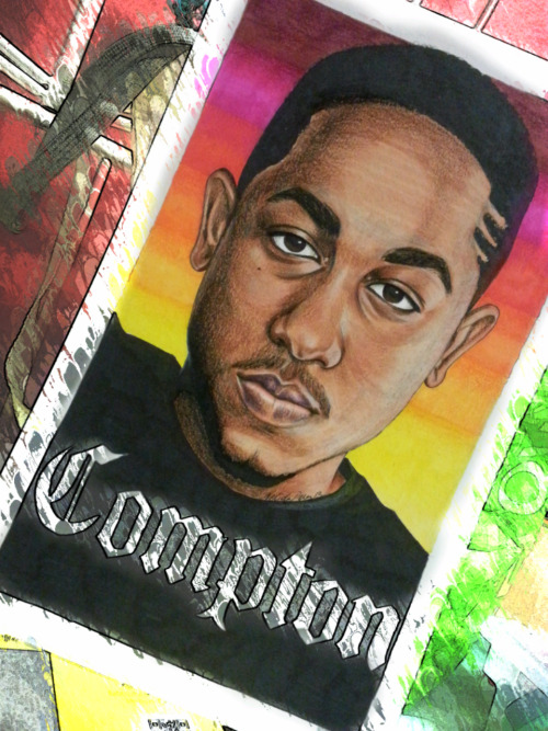 My drawing of Kendrick Lamar