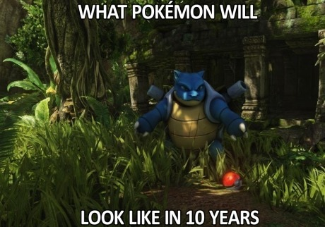 sloader300:  Omg I want a console game already! Just imagine a pokemon version of skyrim!  If it took 18 years to get from this….  into this….  How long do you think it's gonna turn into that????