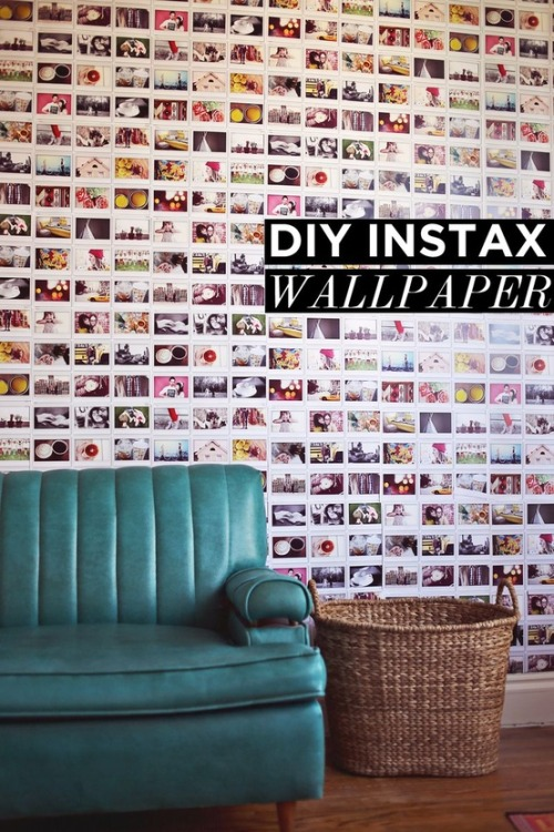 DIY Instax Wallpaper, via Gembob's Crafts