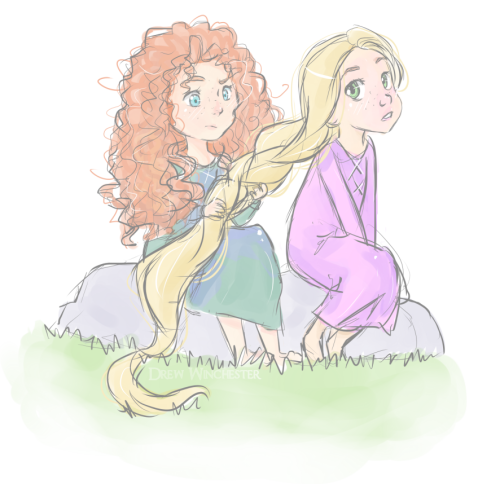 drew-winchester:  Merida and Rapunzel~ ♥