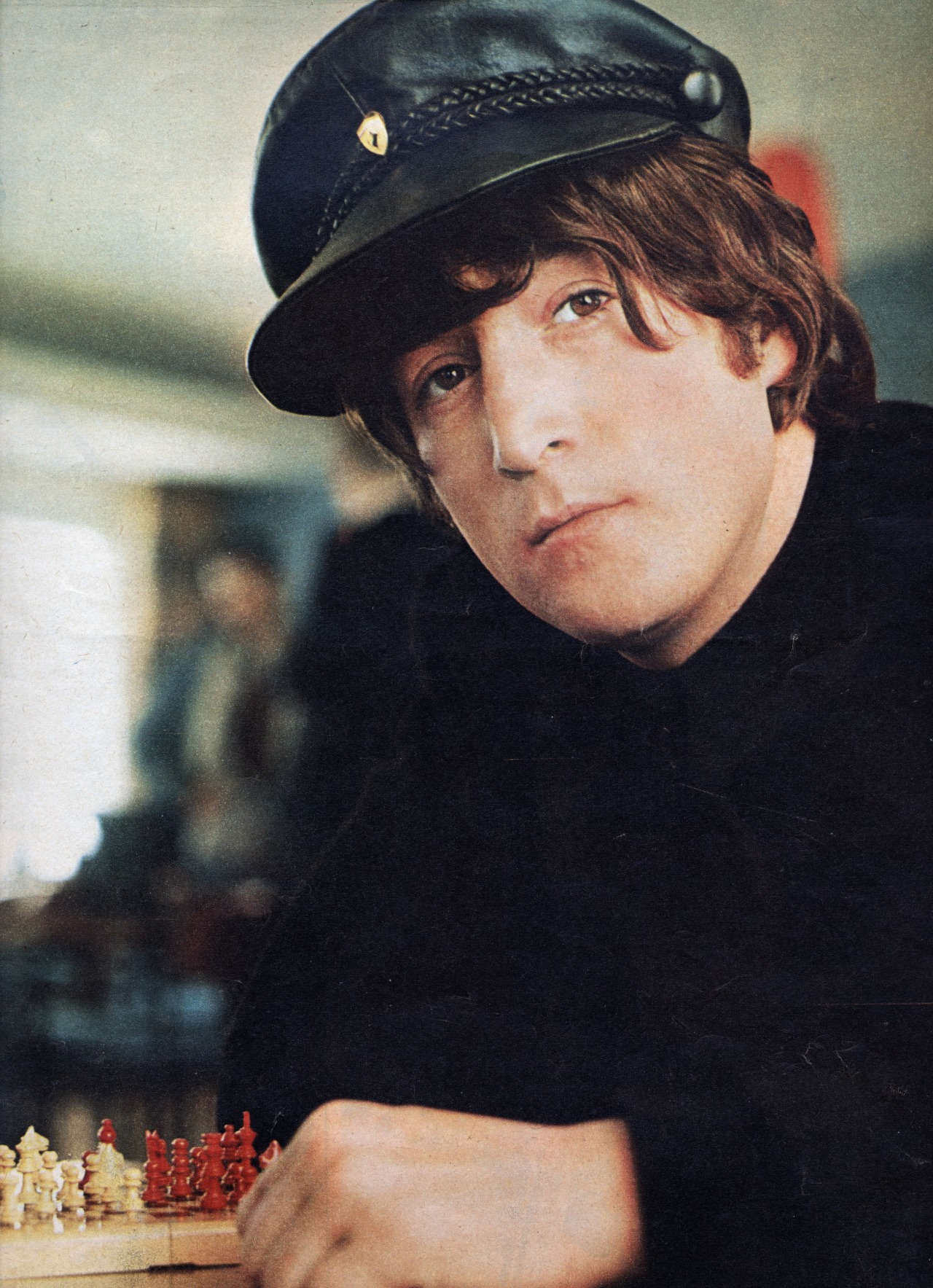 paisleybeat:  john on the back cover of fabulous magazine november 1965.