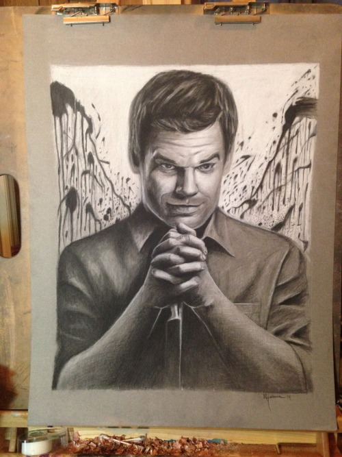 Dexter portrait finished. Prints will be available 8x10 $20.
