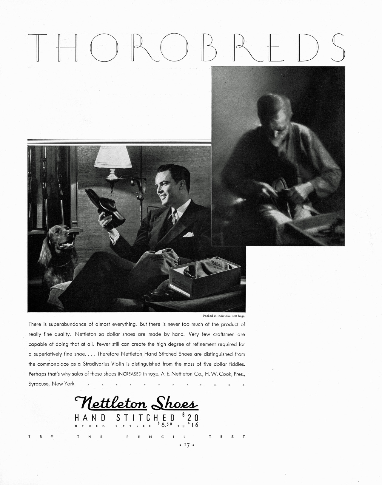 Nettleton Shoes, 1933