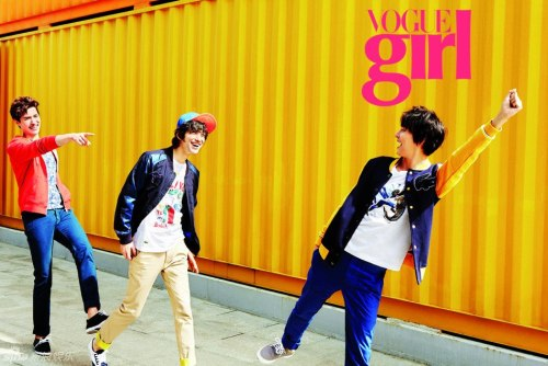 Vogue Girl Models: Yoon Si Yoon, Kim Jeong San, & Kouki Mizuta  April 2013