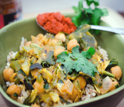 findvegan:  Red Curry Coconut Cabbage