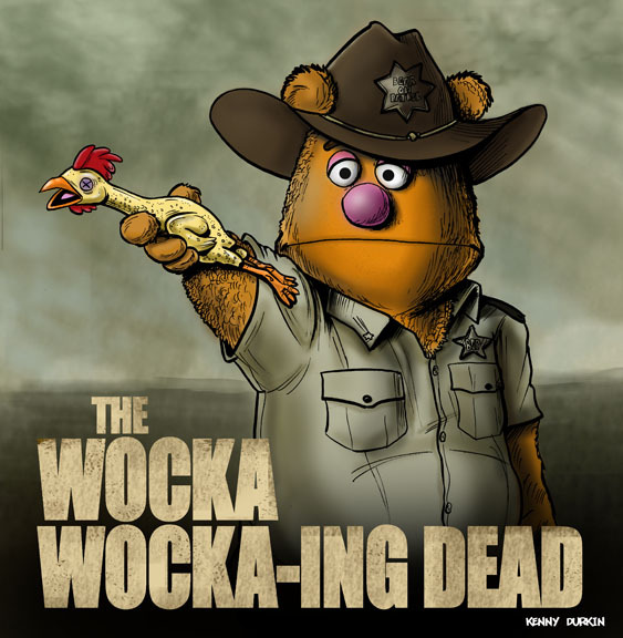 jeremylawson:  lulubonanza:  The Wocka Wocka-ing Dead by ~Durkinworks  Brilliant!