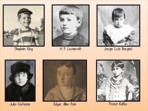 justwatchthesunrise:  amandaonwriting:  Authors as children  Stephen king was the cutest little nugget