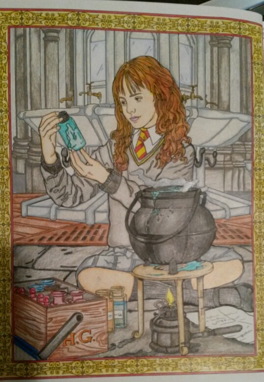 Lillolajane I Finished This Colouring Page Today From The Harry Potter Book