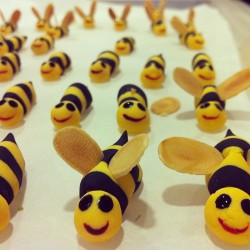 Our bees prepping to go put smiles on peoples' faces 😸#badparty