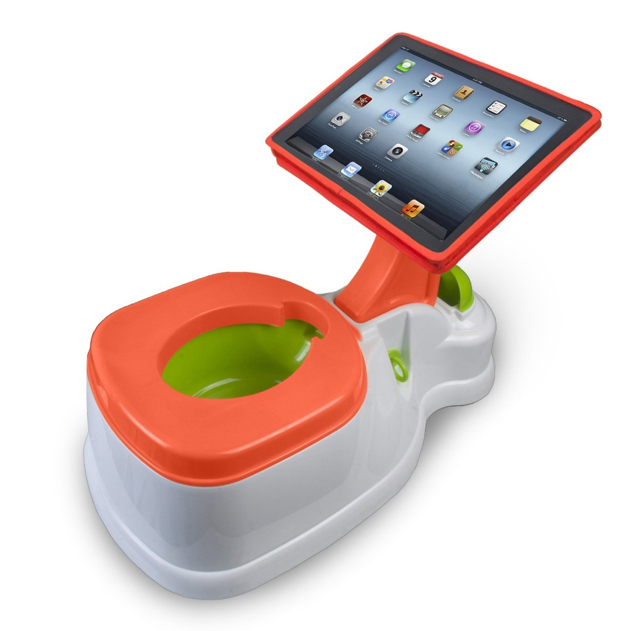 "tj:  ""If only they made this in adult sizes!"" —The Wife    How about a sensor in the bowl so the kid can play ""Regular Birds"" where every time they poop, a bird poops on cars or statues."