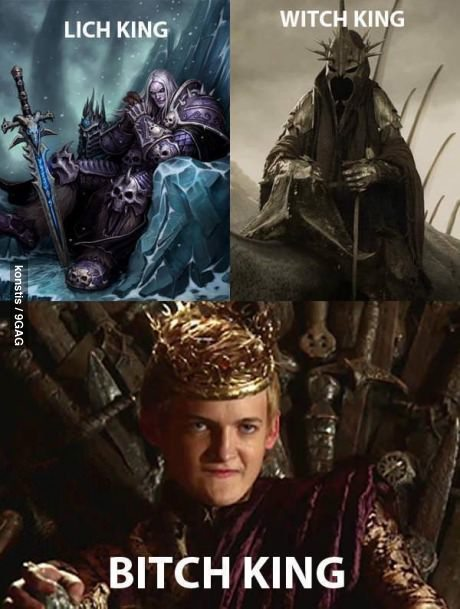9gag:  The Bitch King
