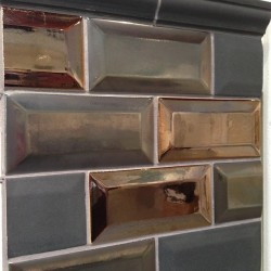 Yeah baby metallic beveled subway #tile