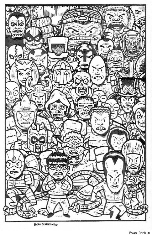 browsethestacks:  Marvel Villains by Evan Dorkin