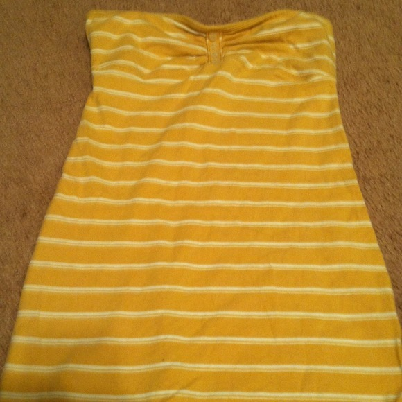 I just added this to my closet on Poshmark: Yellow striped tube top size XS. (http://bit.ly/12qe4Xz) #poshmark #fashion #shopping #shopmycloset