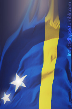inducedhype:  my flag tho (Curacao).. If you don't know about it, Google that shit.. If you wanna see this country, Youtube that mothafucka !!