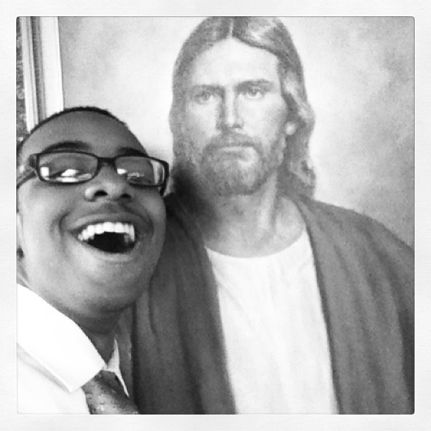 At chuch wit da spanish homie jesus! #lds #jesus #church