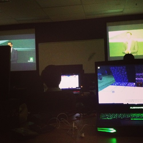 Watching the Xbox One reveal event in class!!! (at TriOS)