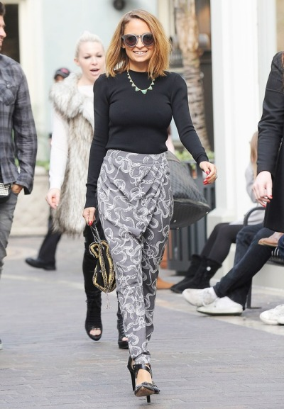 Nicole Richie at her appearance on Extra! at The Grove in Los Angeles on Thursday.