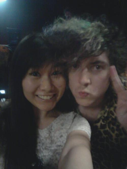met trevor powers (youth lagoon) last week C: i look way too happy in this picture.