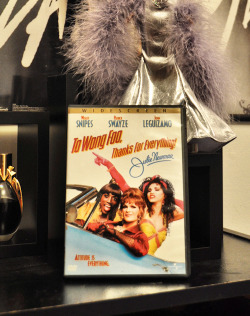 anthxny:  Finally own To Wong Foo on DVD. I don't know what took me so long.  That's totally a Cher doll behind it, isn't it?