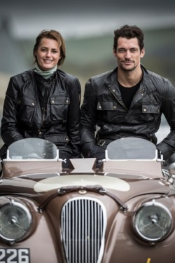 Gorgeous Drivers David Gandy and Yasmin Le Bon, preparing for @MilleMigliaLive