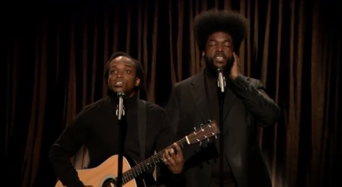 (via Black Simon and Garfunkel perform Rihanna's 'Diamonds') Black Simon and Garfunkel aka The Root's Captain Kirk Douglas and Questlove performed Rihanna's Diamonds on Jimmy Fallon last night. Watch Here