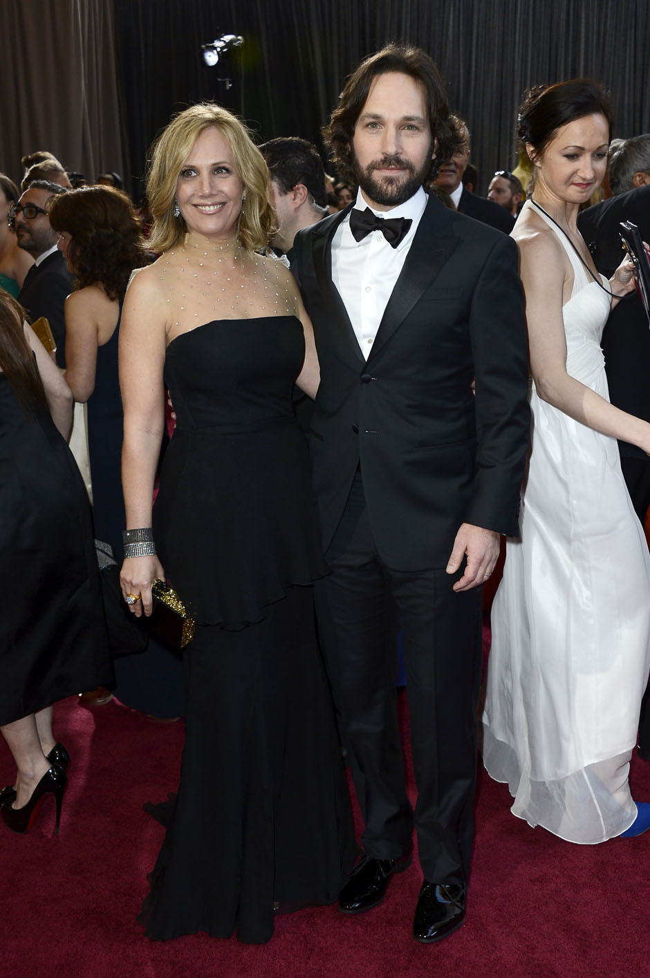 nparts:  Paul Rudd and wife Julie Yaeger arrive at the Oscars. (Photo by Frazer Harrison/Getty Images) More: http://natpo.st/XzvSrs