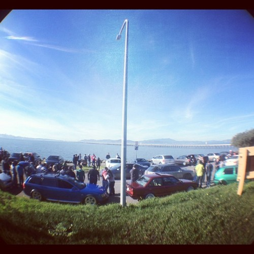 Berkeley marina meet! #euros #e30 #bmw #325is #berkeleymarinameet #bay #cruisin