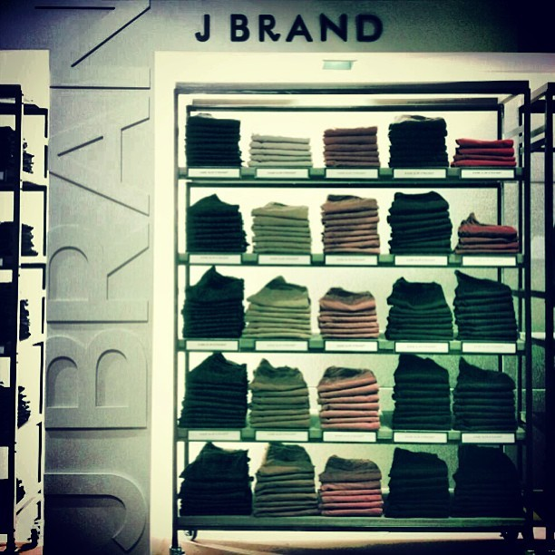@jbrandjeans set up looks amazing at the new saks! @s5a #dbar #denim #menindenim #fashion